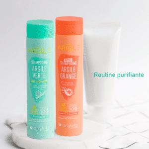 Routine purifiante pour cheveux gras
