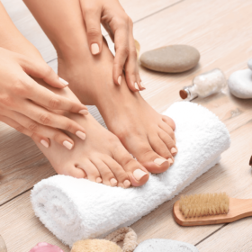 How do I take care of my feet naturally?